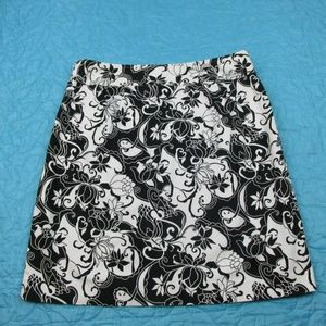 GEOFFREY BEENE Womens Lined Skirt Floral Size 6